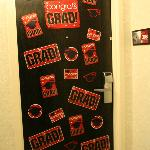 They tolerated us decorating our room door.  No complaints at all.  :)