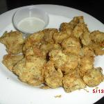 Fried mushrooms.