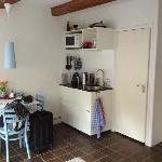  Kitchenette/Door to bathroom, one step up