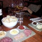 Wine, cheese and meats
