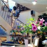 "The ""Main Bar"" at Las Olas Bistro - the stairs lead to an area for large groups"