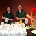 Friendly service from popcorn sponsors from Monarch Bank at the 2011 Auction