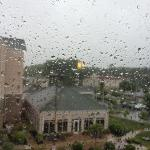 View from room 428 in a rainy