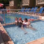  Myself and Grandchildren in the childrens pool