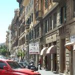  Street scene out front of the Hotel San Pietrino