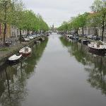  One of the many beautiful canals in Leiden