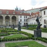 Valdstein Palace & Garden, with Prague Castle in background