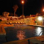 The apartment pool by night