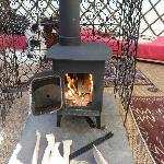 Very cosy wood stove