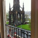 Scott Monument from window in Jenner's department store
