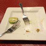  The key lime pie was good to the last drop.