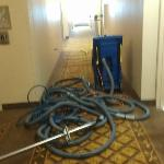 Tripping hazard in hallway