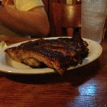  A plateful of smoked ribs at Babe&#39;s in Cedar Hill, TX.