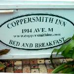  Coppersmith Inn B&amp;B sign