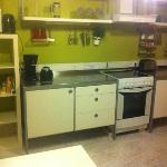  kitchen with EVERYTHING you could possibly need and a &quot;free for all&quot; shelf