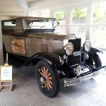 Old car in the hotel hall
