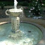 One of the fountains in the garden