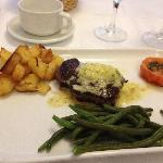 Divine steak in butter sauce