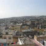  View of Fez rooftops from the riad roof, just outside of the Kerouya room