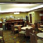 Breakfast area at the Holiday Inn Express, Durham