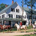 Live the history of this charmingly restored 1780s inn with horseback riding stables.