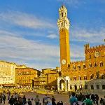 Piazza del Campo is the principal public space of the historic center of Siena