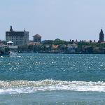 View of St. Augustine - The Old City from Vilano Beach