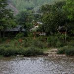  View of guest house from across the river