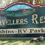 Travellers Rest sign