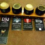 Laminated cards with the beer samplers give you some notes to track your beers
