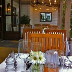 The outdoor patio at Artisan