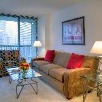 Manilow Suites furnishes all of our apartments with custom furniture.