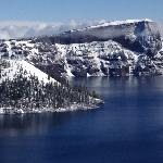 the temperamental Crater Lake - showed its presence for 10 mins before it got covered by fog & s