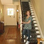 Beautiful staircase in entry way