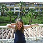 abi on our balcony