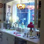  Her lovely kitchen where the wonderful meals are prepared