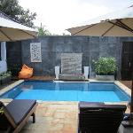 Each of the 3 two bedroom villas has a private pool