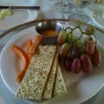 Our first course.  The beer cheese was excellent!