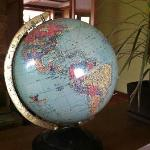 Vintage globe purchased in Dec 2011