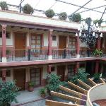 the covered courtyard of hotel Real del Valle