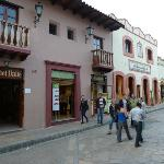 view on hotel Real del Valle from the street