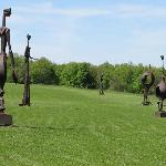 Statues in the fields