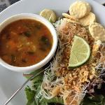 Mediterranean soup and Thai Salad without chicken