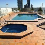 Roof top pool and spa