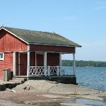 quaint old Finnish house right on the shore