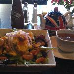 Coronation Chicken Salad and a spot of tea.