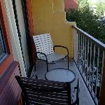 Private balcony for room