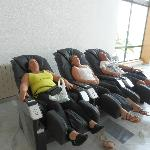 massage chairs in reception