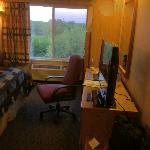 Desk Area, New TV & View Outside