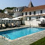 The brand-new pool at La Maison Blanche